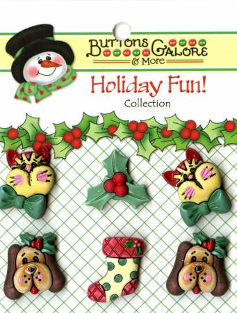 Buttons - Holiday Pets
