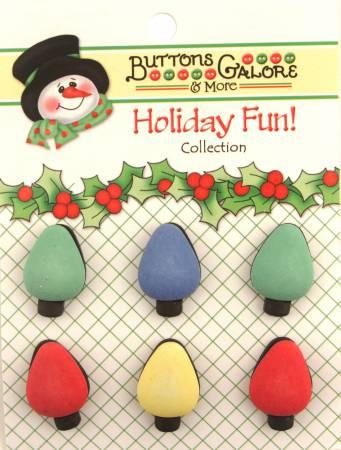 Tree Lights Button Card 6pc