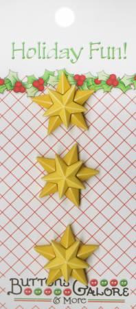 Christmas Star Button Card 3pc