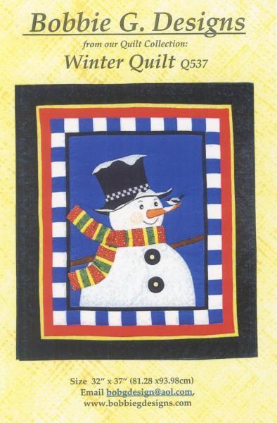Winter Quilt snowman