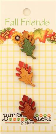 Fall Friends Oak Leaves Buttons - 3