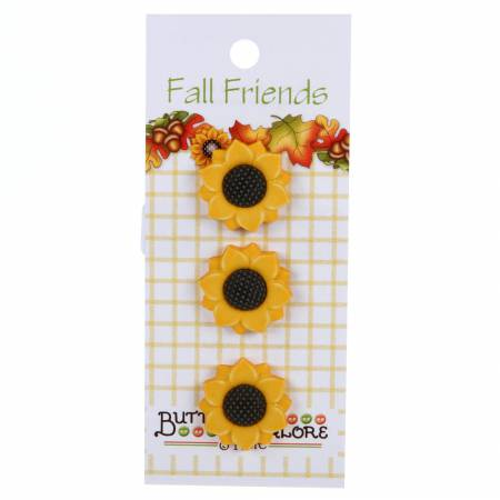 Sunflowers - Buttons Galore - BGFA122