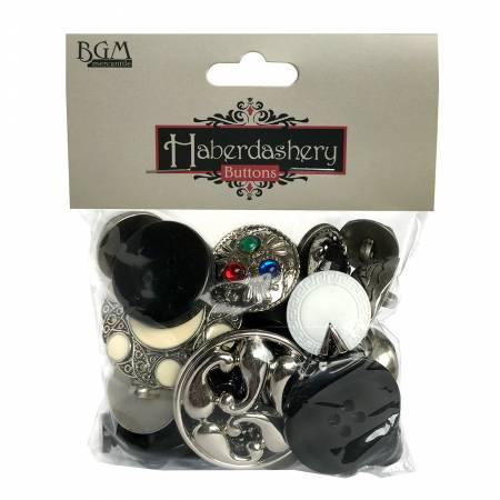 Black/Silver Button Collection