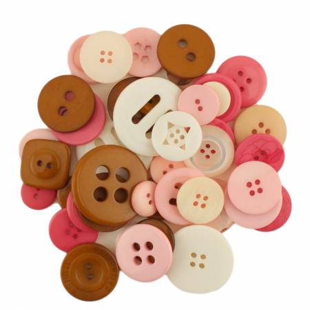 (N35)b Confection Button Jar Mixed Buttons