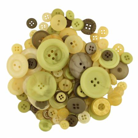 Button Jars Mixed Buttons Meadow
