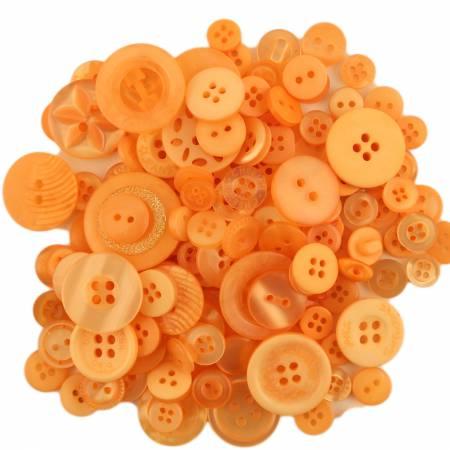 (N35)b Orange Fizz Button Jar Mixed Sizes