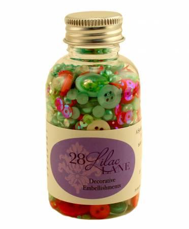 Buttons Embellishment Bottle Yuletide Greetings