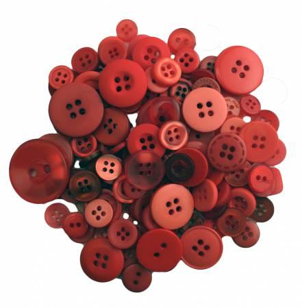 Big Apple Buttons in Mason Jar
