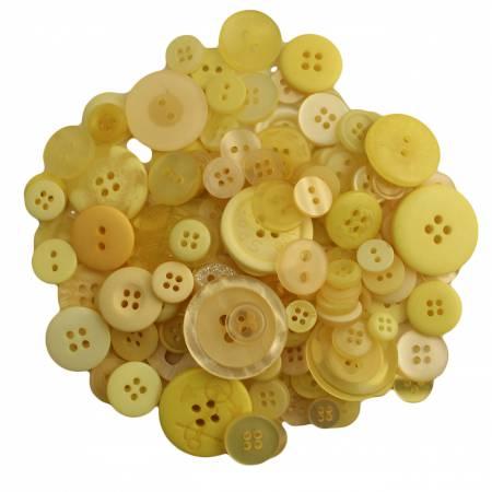 Lemon Twist Buttons in Mason Jar