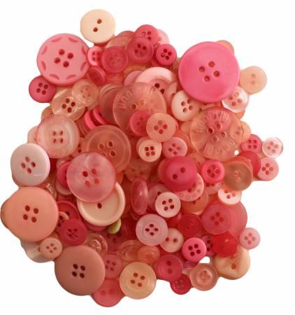 Pink Grapefruit Buttons in Mason Jar