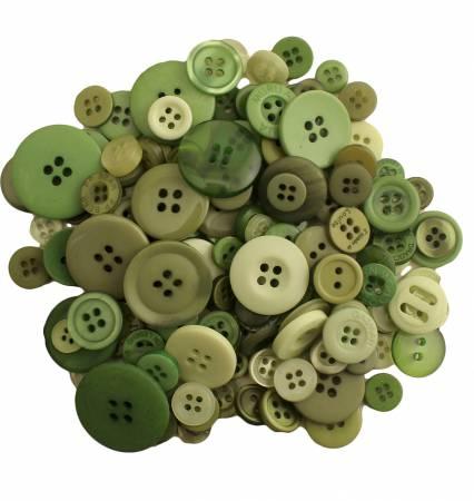 Leafy Green Buttons in Mason Jar