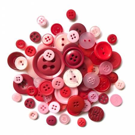 Valentine Buttons in Mason Jar