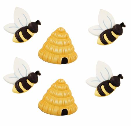 Busy Bees Spring Fling Buttons