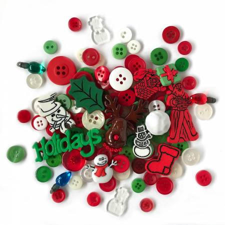 Button Value Pack Holiday 1/2in - 7/8in