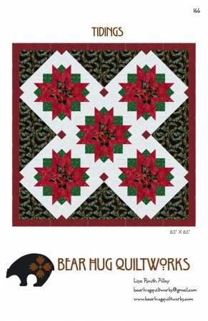Bear Hug Quilt Works Tidings 166  83 x 83