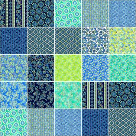 10in Squares Blue Horizon, 42pcs/bundle