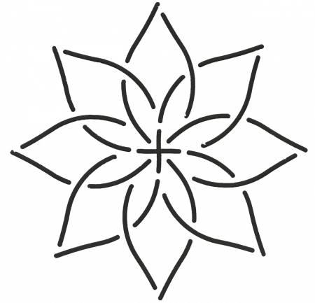Stencil Continuous Flower