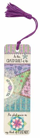 Nancy Mink Crazy Quilt Bookmark