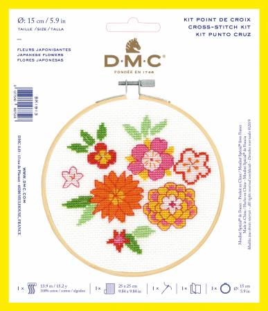 Counted Cross Stitch Kit DMC - floral - 6 inch