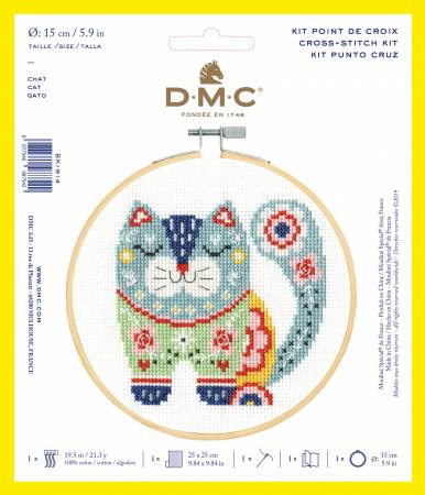 Counted Cross Stitch Kit DMC - cat - 6 inch