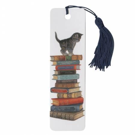 Bookmark Kitten On Books