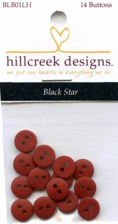 Black Star Button Pack 14pc