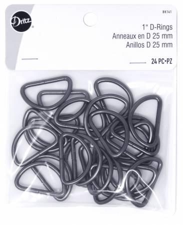 D Rings 1in Gunmetal