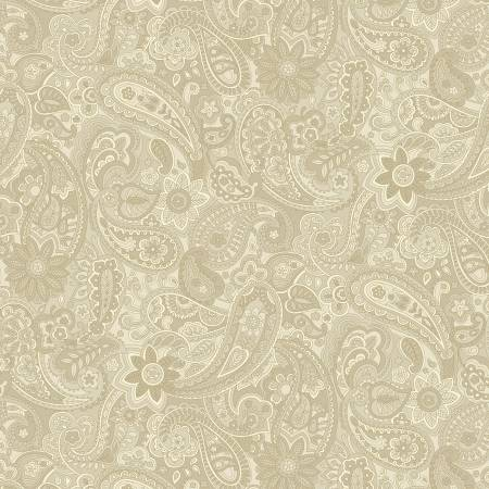 Natural Paisley 108in Wide Back