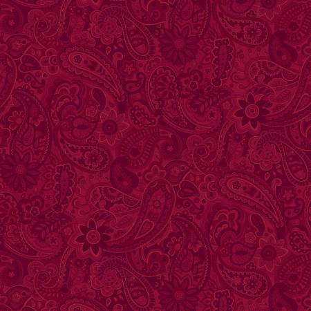 Red Paisley 108in Wide Back
