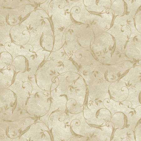 Natural Scroll 108in Wide Back