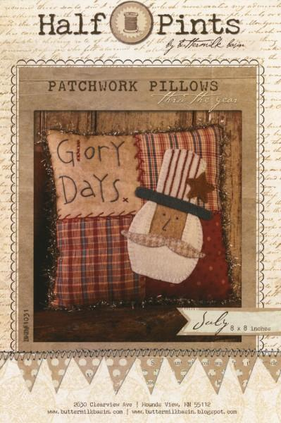 Patchwork Pillows Glory Days July 8 x 8
