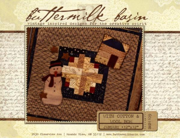 With Cotton & Wool Block of the Month - January