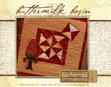 With Cotton & Wool Block of the Month - February