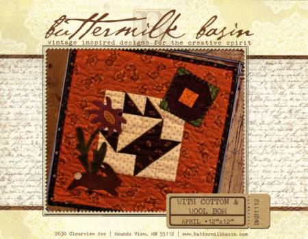 With Cotton & Wool Block of the Month - April