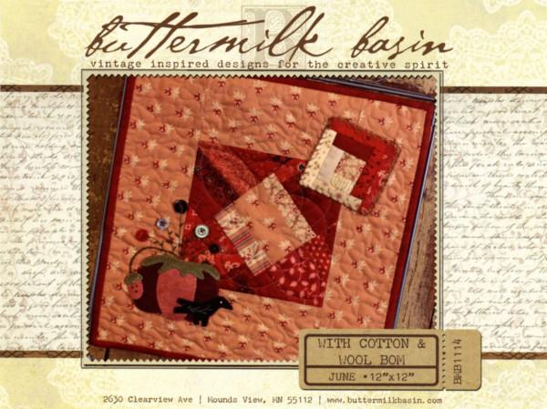 With Cotton & Wool Block of the Month - June