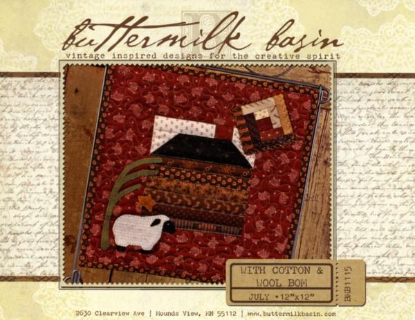 With Cotton & Wool Block of the Month - July