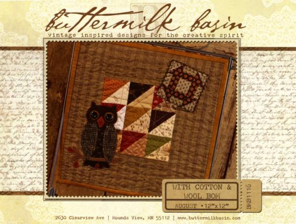With Cotton & Wool Block of the Month - August