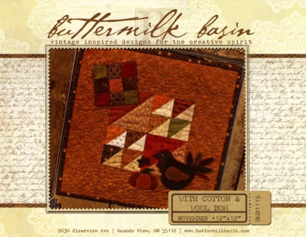 With Cotton & Wool Block of the Month - November