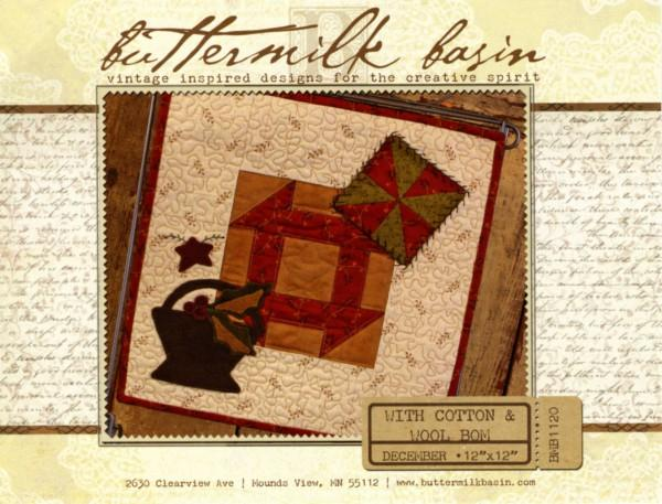 With Cotton & Wool Block of the Month - December