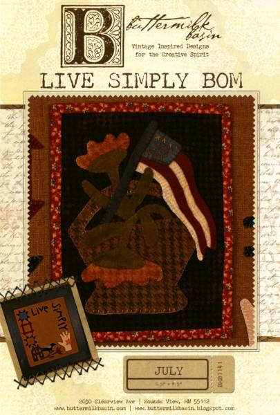 Live Simply Block of the Month - July