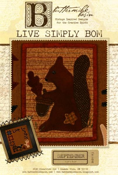 Live Simply Block of the Month - September
