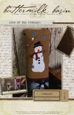 Year of the Pinkeeps January Snowman Pattern