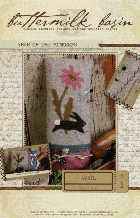Year of the Pinkeeps April Flower & Bunny Pattern