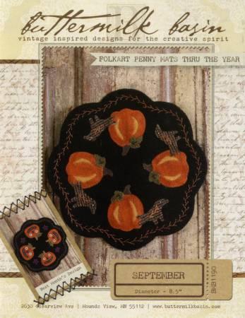 Folkart Penny Mats Thru the Year September Pumpkin
