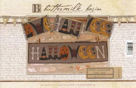 Batty Halloween Wool Mat