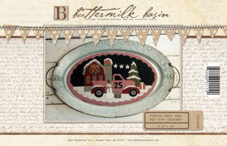 Vintage Truck Thru the Year December 12-1/2in x 22in