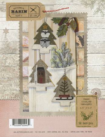 Three Woodland Ornaments Kit