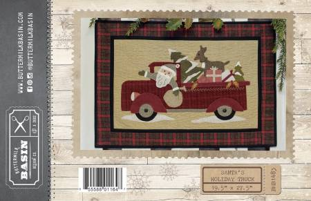Santas Holiday Truck Pattern