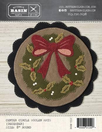 Center Circle Woolen Mats December