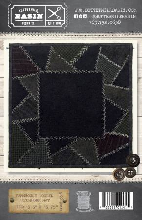 Farmhouse Woolen Patchwork Mat